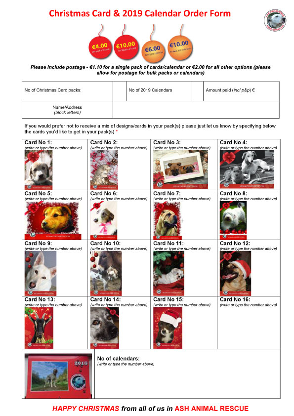 Christmas Cards and Calendar 2018